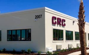 Illuminated channel letter sign for exterior of new CRC building