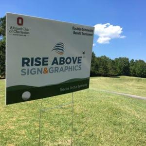 Ohio State Alumni Club Golf Outing Yard Sign
