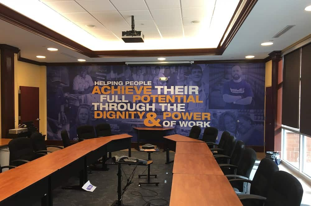 inspirational wall mural for your business from Rise Above Sign & Graphics